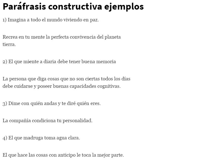 Paráfrasis constructiva